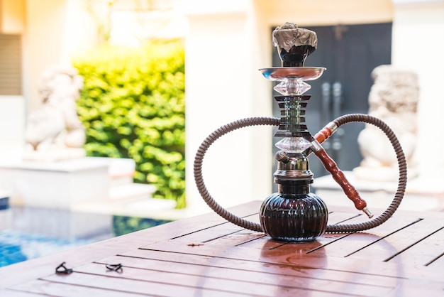 Tradycyjne arabskie shisha pipe hookah