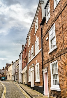 Tradycyjne domy na starym mieście w chester w anglii