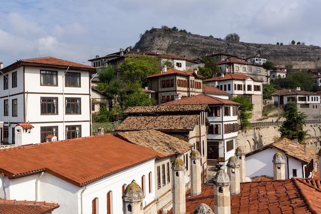 Tradycyjne domy osmańskie w safranbolu, turcja