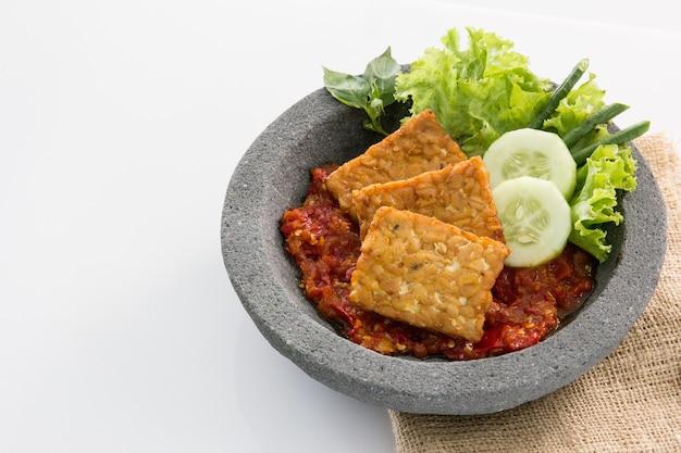 Tradycyjne indonezyjskie jedzenie kulinarne