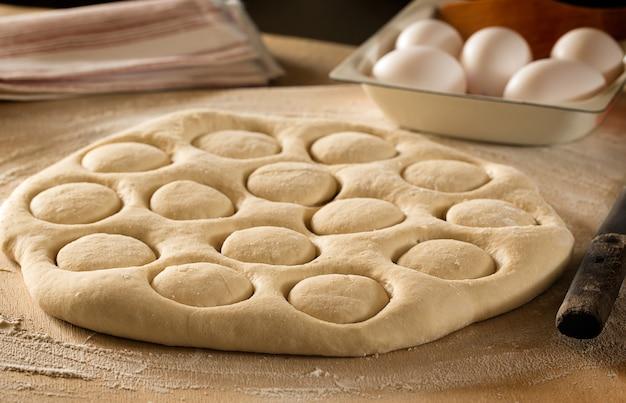 Tradycyjne kazachskie (azjatyckie) danie baursak