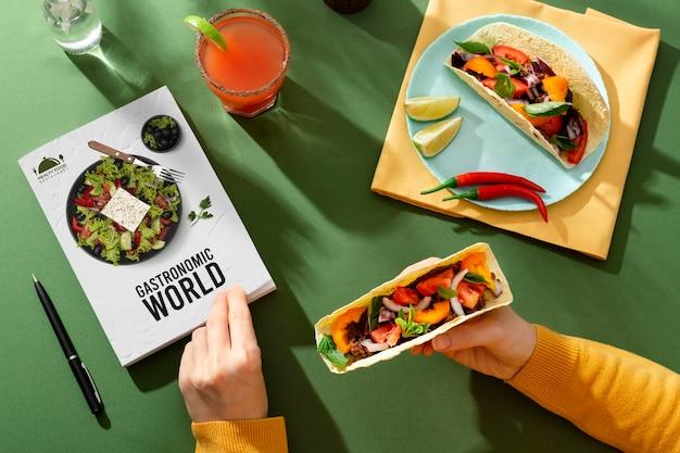 Tradycyjne meksykańskie jedzenie w światowy dzień turystyki