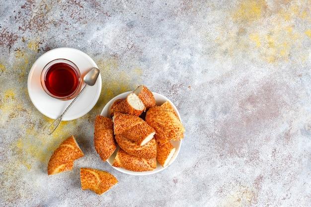 Tradycyjne tureckie śniadanie.