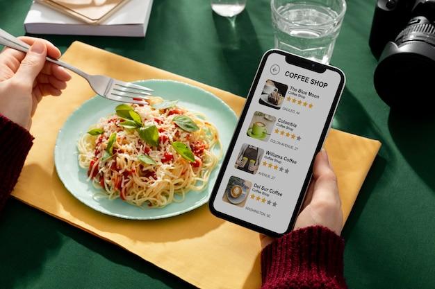 Tradycyjne włoskie jedzenie w światowy dzień turystyki