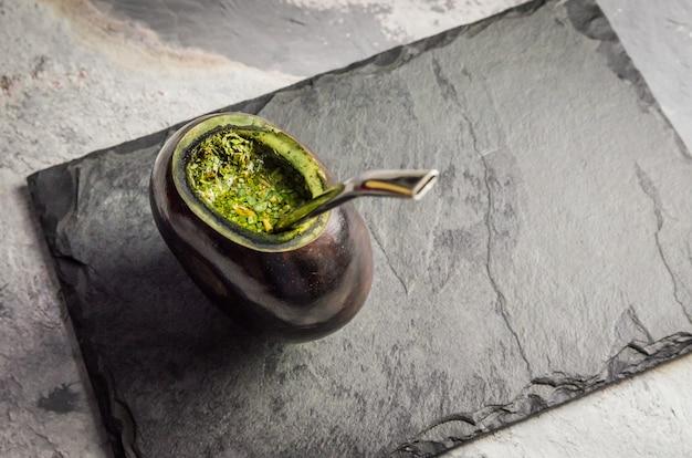 Tradycyjny napój gaucha, chimarrao