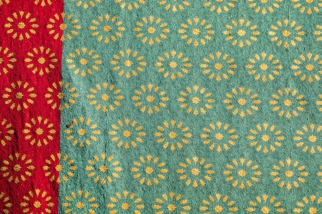 Tradycyjny projekt średniowiecznej tkaniny