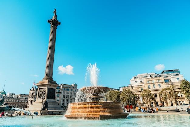 Trafalgar square to przestrzeń publiczna i atrakcja turystyczna w centrum londynu.