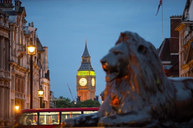 Trafalgar square w londynie w anglii w wielkiej brytanii