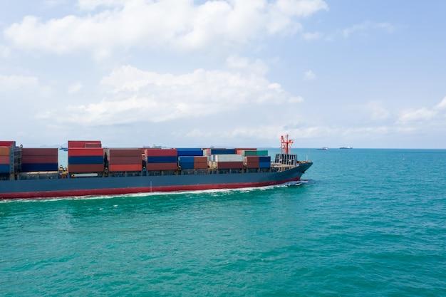 Transport Biznesowy Wysyłka Kontenery Oceany Strach Premium Zdjęcia