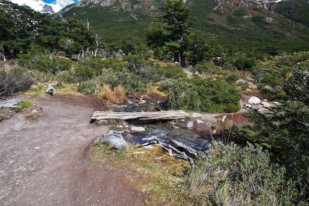 Trekking do fitz roy, el chalten, patagonii, argentyny