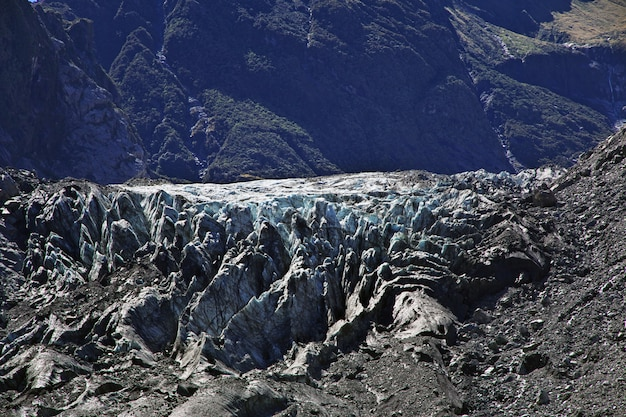 Trekking do fox glacier, nowa zelandia