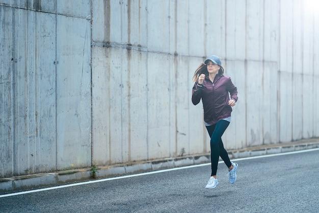 Trening biegaczy po mieście