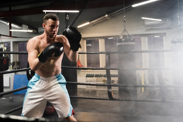 Trening człowieka w ringu