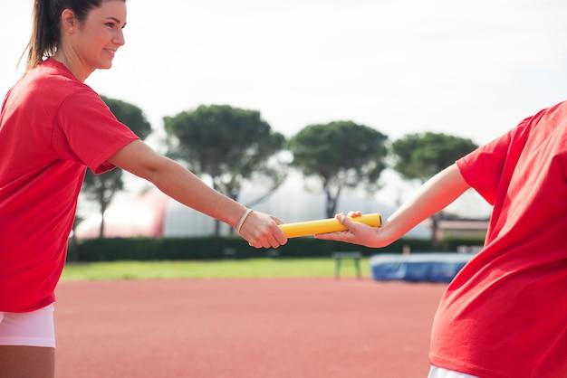 Trening sportowców