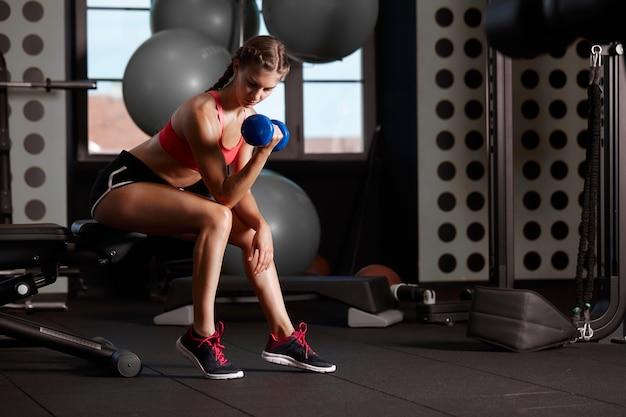 Trening w klubie gimnastycznym