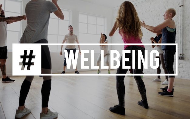 Trening wellbeing healthcare fitness concept