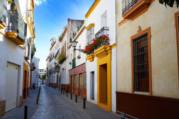 Triana barrio sewilla fasady andaluzja hiszpania