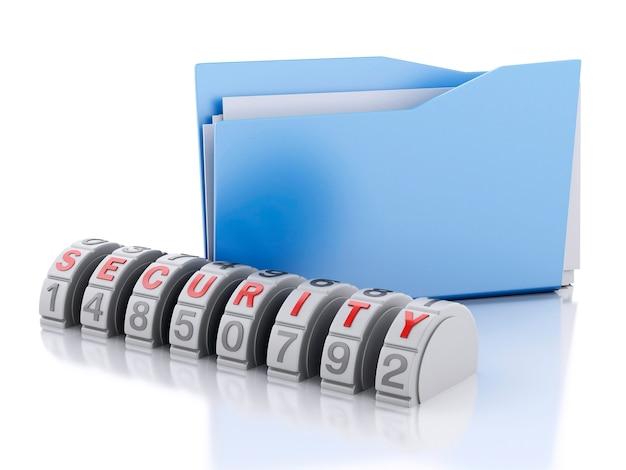 Trójwymiarowa kombinacja zabezpieczeń folderów