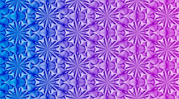 Trójwymiarowy biały wzór z sześcioramiennymi kolorami