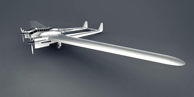 Trójwymiarowy model samolotu bombowego ii wojny światowej