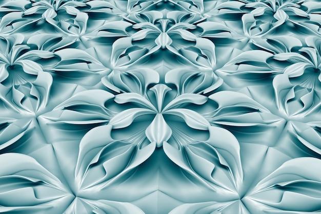 Trójwymiarowy niebieski kwiat