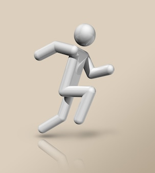 Trójwymiarowy Symbol Lekkoatletyki, Sporty Olimpijskie. Ilustracja Premium Zdjęcia