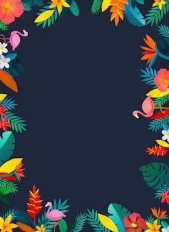Tropikalna botaniczna kolekcja ręcznie wykonana z papieru