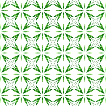 Tropikalny wzór. zielony optymalny letni projekt boho chic. ręcznie rysowane tropikalny bezszwowe granica. tekstylny gotowy żywy nadruk, tkanina na stroje kąpielowe, tapeta, opakowanie.