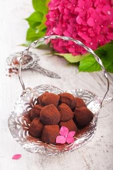 Truflowe cukierki czekoladowe
