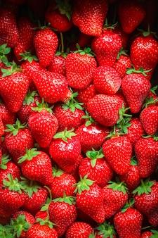 Truskawkowa dojrzała soczysta czerwona berrie