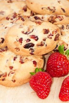 Truskawkowe ciasteczka