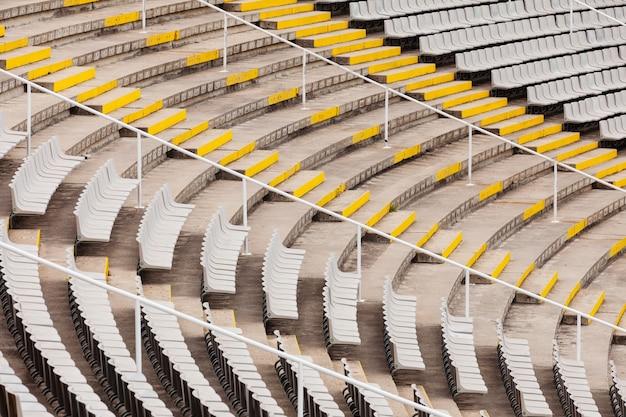 Trybuny dużego stadionu