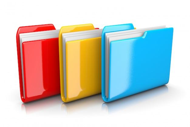 Trzy foldery dokumentów