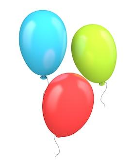 Trzy kolorowe balony