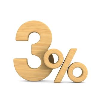 Trzy procent na białym
