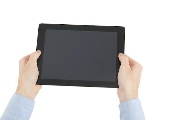 Trzymając się za ręce komputer typu tablet