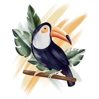 Tukan-tropikalna kolekcja-dżungla