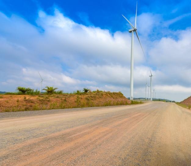 Turbina wiatrakowa do produkcji elektrycznej w khao kho