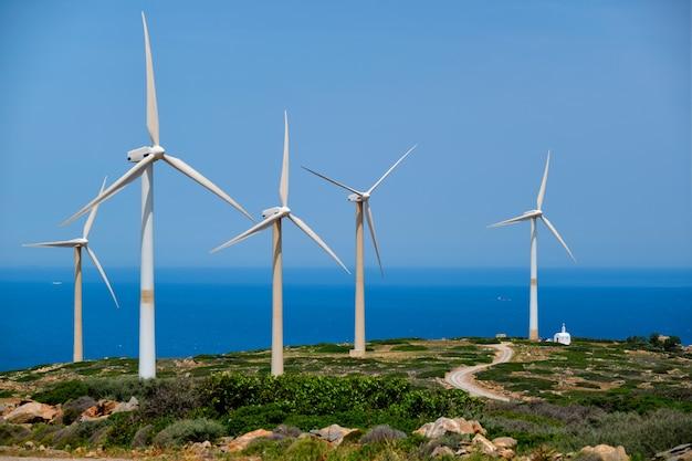 Turbiny generatora wiatrowego kreta wyspa grecja