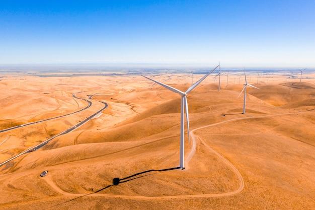 Turbiny widziane z steptoe butte state park, waszyngton