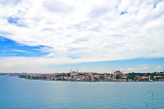 Turcja, stambuł, widok miasta od strony morza