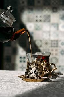 Turecka herbata i słodycze