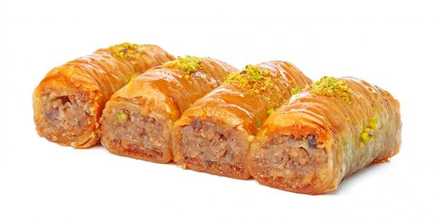 Turecka ramadan deserowa baklava odizolowywająca