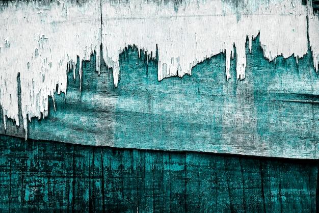 Turkus wyblakły drewniany obraz tekstury