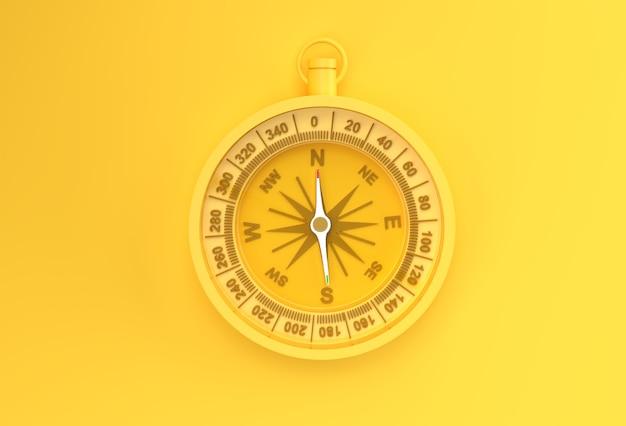 Turkusowy Kompas 3d Renderowania Ilustracji. Premium Zdjęcia