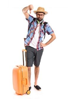 Turysta robi złego sygnału