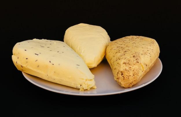 Twaróg biały talerz organiczne świeże białko wapniowe