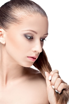 Twarz kobiety z makijażem