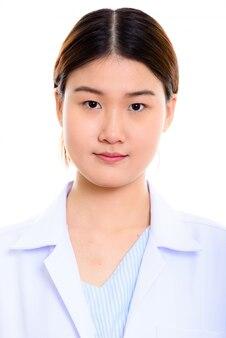 Twarz młodej pięknej kobiety azji lekarz