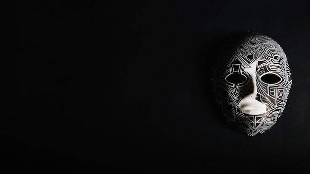 Twarz spooky maska na czarno
